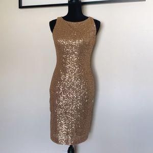 Lauren Ralph Lauren sequin Gold Dress